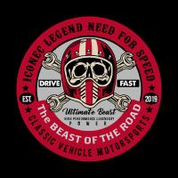 T-Shirt für Motorradfahrer - Motorsport Design