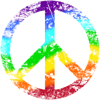 Peace-Zeichen Regenbogen Toleranz Frieden Graffiti
