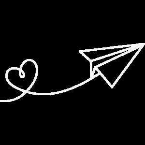Papierflieger Papier Flieger Herz Urlaub Reise