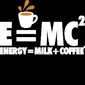 Energie ist Milch und Kaffee Quadrat Lustiges