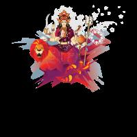 Indien Buddhismus Durga und Löwe