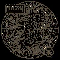 Vintage Karte Irland