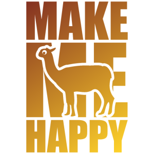 Llama Glück Happy