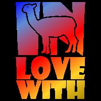 Llama Alpaka Liebe