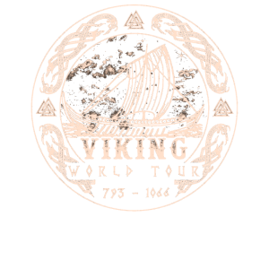 Wikinger Emblem Schiff World Tour Illustration