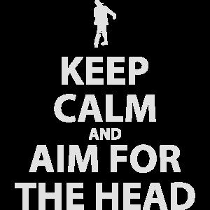 Bleib 'ruhig und Auf den Kopf