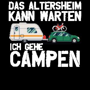 Camping Rentner Wohnmobil Geschenk Freizeit Hobby