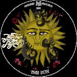 The Sun | Die Sonne Tarot Karte rund | Löwe