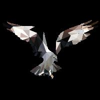 Adler Low Poly Abstrakt