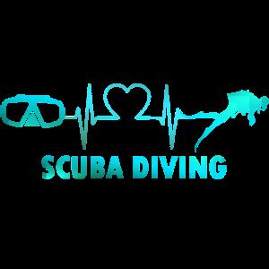 Scuba Diving Tauchen Herzschlag Diver Schnorcheln
