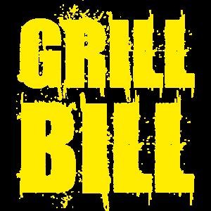 Lustiges Grill Bill BBQ Spruch Geschenk Shirt