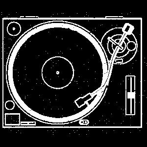 DJ Turntable White