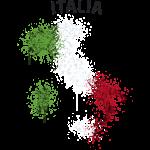 Italia Text Landkarte Flagge Graffiti