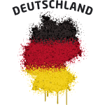 Deutschland Text Landkarte Flagge Graffiti