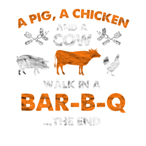 Bar B Q Schwein Huhn Kuh Geschenk