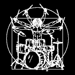 Schlagzeug Da Vinci - Drummer Vitruv Rock Geschenk