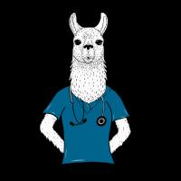 Alpaka Llama Mediziner