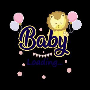Baby loading Design mit süßen Baby Löwen Geschenk