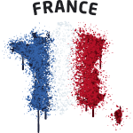 France Map flag graffiti text