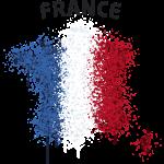 France Text Landkarte Flagge Graffiti
