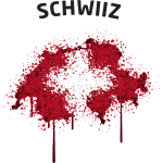 Schwiiz Text Map Flag Graffiti