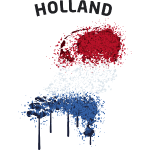 Holland Text Landkarte Flagge Graffiti