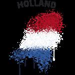 Holland Text Landkarte Flagge Graffiti