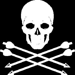 Totenschädel mit Pfeilen für Bogenschützen