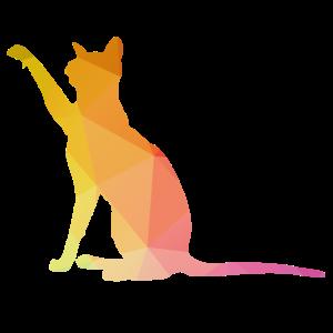 Katzen Silhouette Katzendame Geschenk