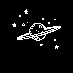 Weltall Space Planeten Sterne Design