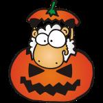 Halloween Kürbis Schaf