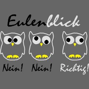 schwarz weiß gelb Eulenblick DE