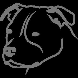 Staffbull HEAD Staffordshire Bullterrier 1c 4light