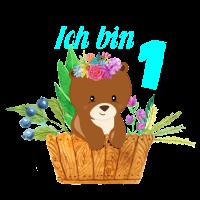 1 Geburtstag ich bin 1 Süsser Bär Junge