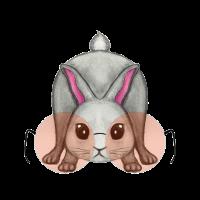 Süßes Kaninchen mit Brille