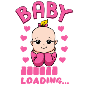 Baby Girl is loading Design - Baby Party Geschenk