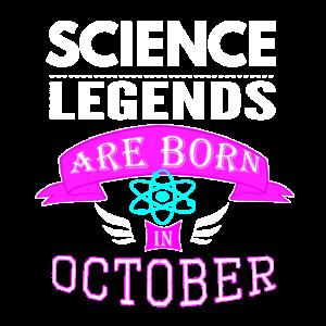 Wissenschaftslegenden werden im Oktober Mädchen geboren