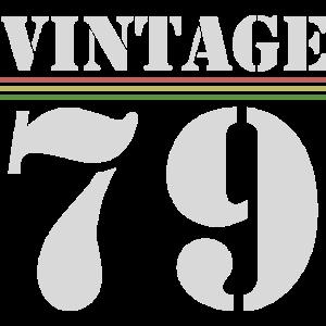 Vintage 1979 Jahrgang Geburtstag Runder Idee