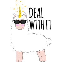 Lama Einhorn Llama Unicorn Llamacorn Geschenkidee