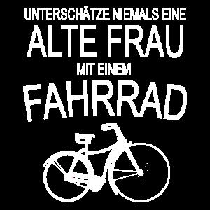 Alte Frau - Fahrrad