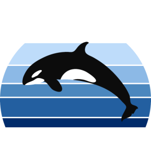Vintage Orca Killerwal Schwertwal