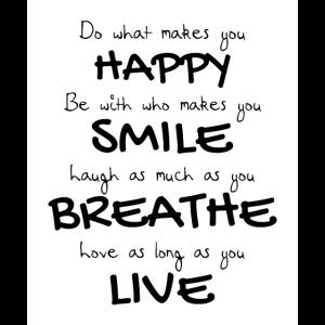 Glücklich, lachen, atmen, leben,