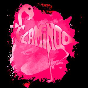 Flamingo-Typografie