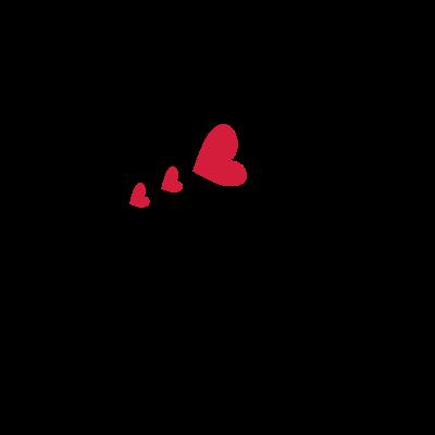 Großbuchstabe M mit Herzen - Großbuchstabe M mit Herzen Textlogo Schriften Linie Kunst - der Buchstabe M,Text,Logo,Liebhaben,Letters,Herzen,Großbuchstabe M,Fonts,-m-