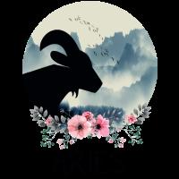 Widder Floral Tierkreiszeichen