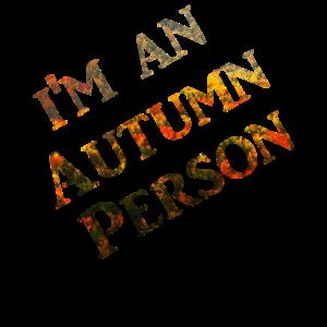 I'm an Autumn Person