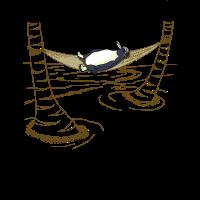 Pinguin in Hängematte