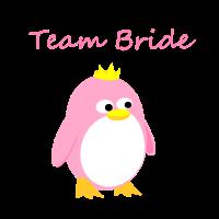 Team Bride süßer Pinguin