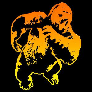 Gorilla affe in bunt