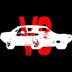 MuscleCar in weiß